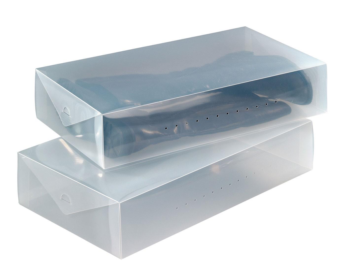 wenko aufbewahrungsbox transparent 2er set. Black Bedroom Furniture Sets. Home Design Ideas