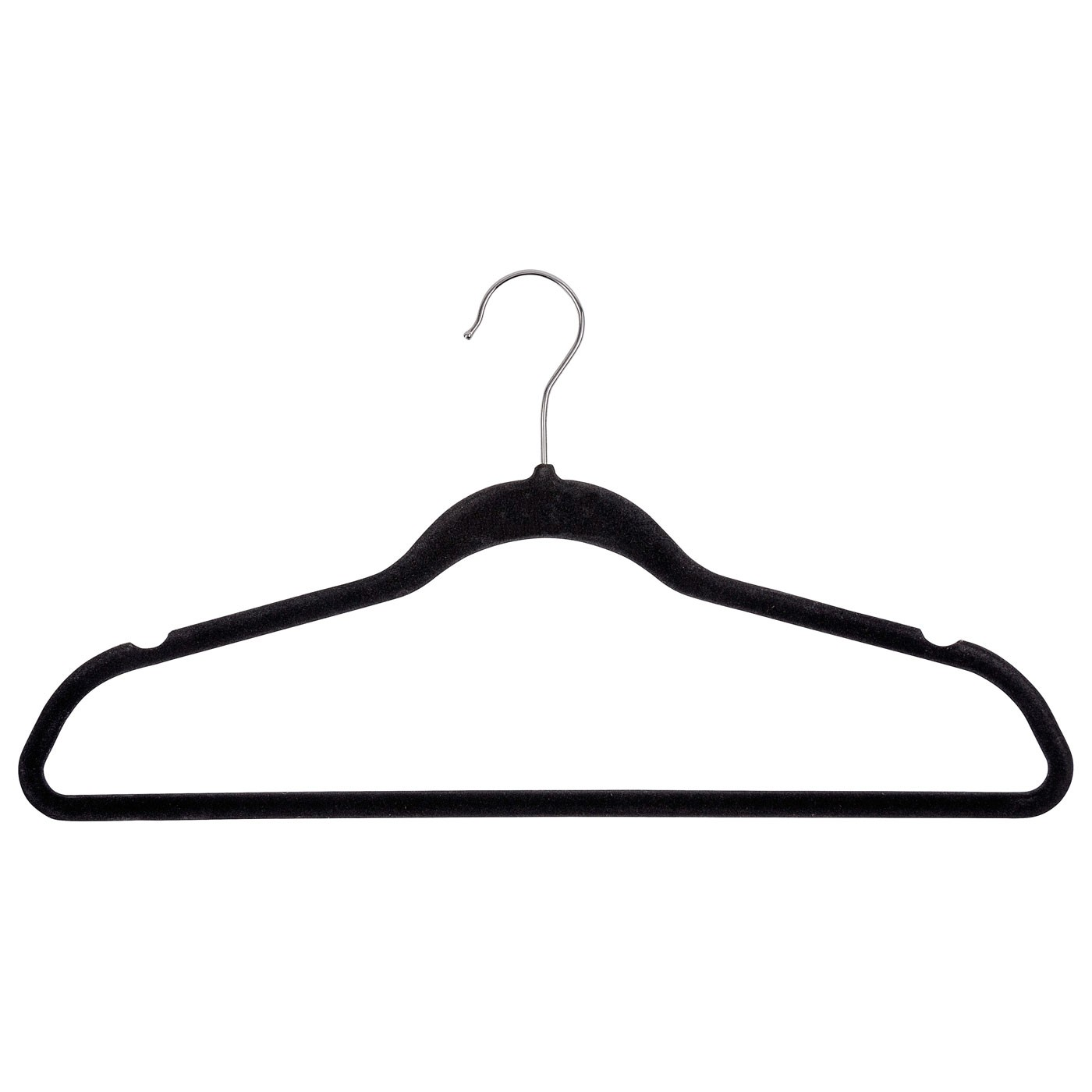 Kleiderbügel Beflockt kleiderbügel beflockt schwarz