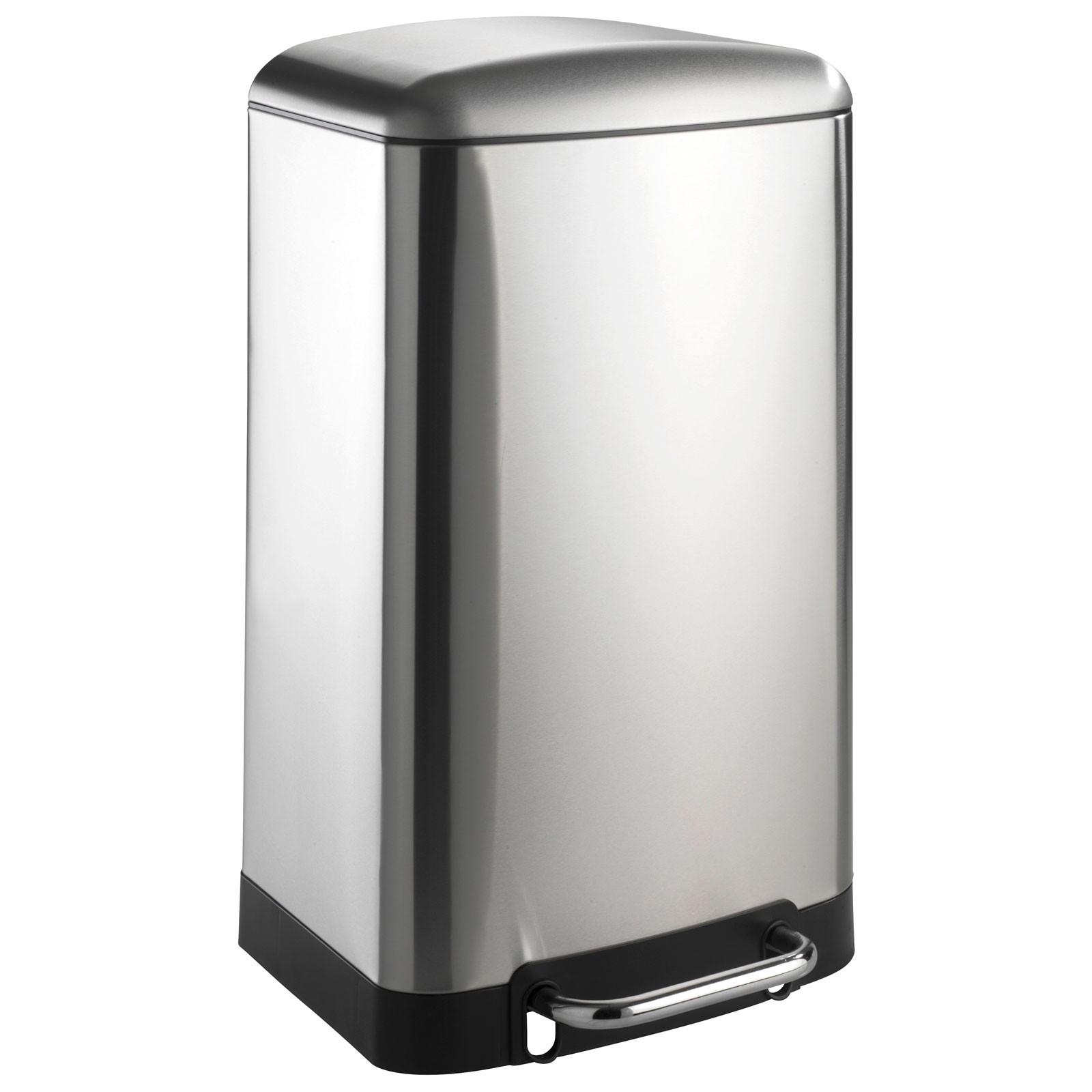 treteimer studio easy close 30 liter silber. Black Bedroom Furniture Sets. Home Design Ideas