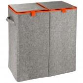 Wäschesammler Wenko Duo Filz orange