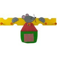 Kindergarderobe bieco Maus mit Tasche