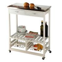 Küchenrollwagen weiß