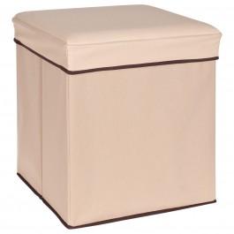 aufbewahrungsbox sitzw rfel beige. Black Bedroom Furniture Sets. Home Design Ideas