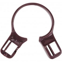 Kleiderbügel Diebstahlsicherung Kunststoffring 35 mm braun