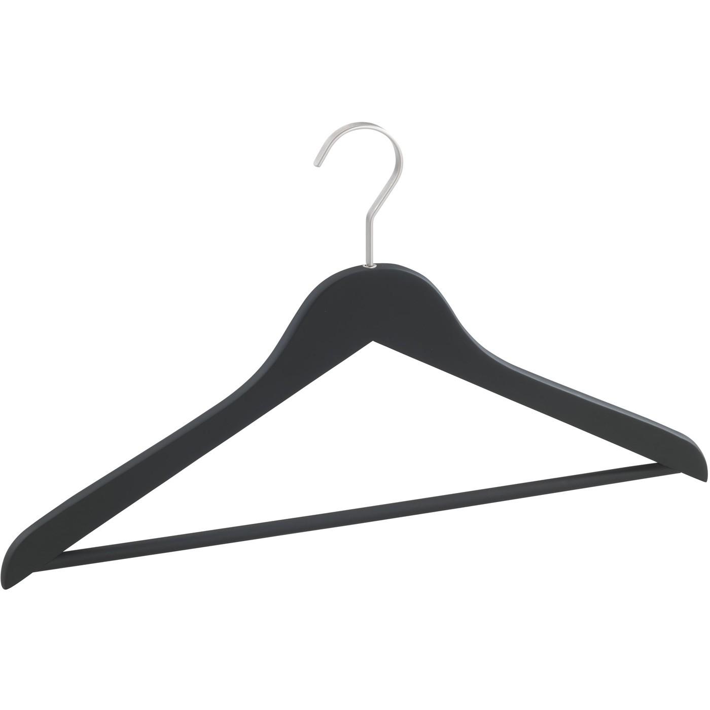 Kleiderbügel Holzbügel Garderobenbügel New York schwarz 45 cm rutschhemmend