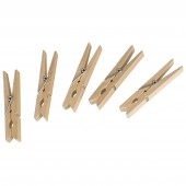 Wäscheklammern Holz 50er Pack