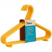 Kinder Kleiderbügel bieco 8er Set gelb