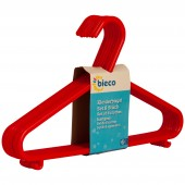 Kinder Kleiderbügel bieco 8er Set rot
