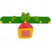 Kindergarderobe bieco Frosch mit Tasche