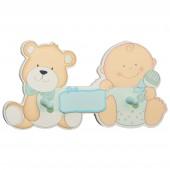 Kindergarderobe bieco Babybär blau
