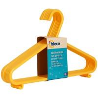 Kinderkleiderbügel bieco 8er Set gelb