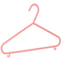 Kinderkleiderbügel Malte rosa