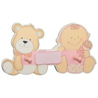 Kindergarderobe bieco Babybär rosa