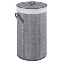 Wäschesammler Wenko Bamboo grau