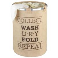 Wäschesammler Wenko Ringo beige