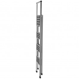 Alu-Design Klapptrittleiter 4-stufig