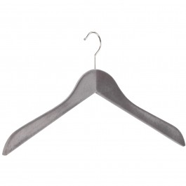 Kleiderbügel pieperconcept 200 beflockt grau