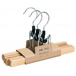 Hosenklemmbügel PieperConcept 3er Pack Union Nr.912 buche