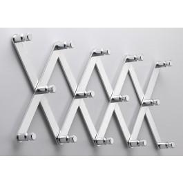 Wandgarderobe pieperconcept flex Aluminium poliert