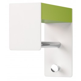 Wandgarderobe pieperconcept faro, Metall weiß, Holz, grün