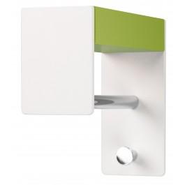 Wandgarderobe pieperconcept faro, Metall weiß, Massivholz, grün