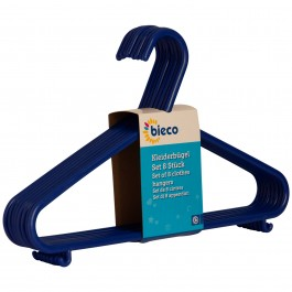 Kinderkleiderbügel bieco 8er Set blau