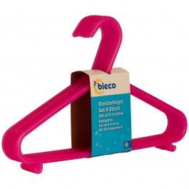 Kinderkleiderbügel bieco 8er Set pink