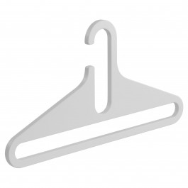 Garderobenbügel FLAT weiß