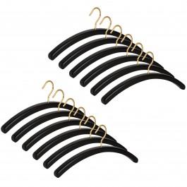 12er Garderobenbügel Set 501 Premium schwarz m