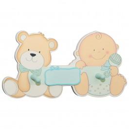 Kindergarderobe Babybär blau