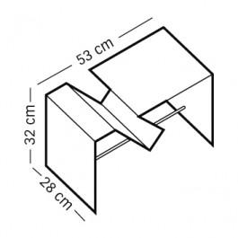 Zeichnung mit Maßangaben