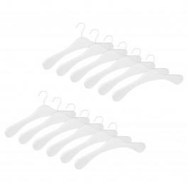 12er Garderobenbügel Set ECO 1112 Premium weiß w