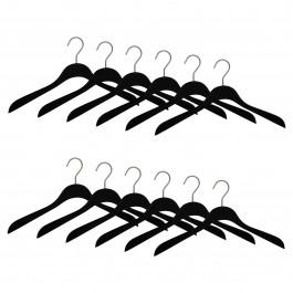 12er Kleiderbügel Set ECO 6600 schwarz n