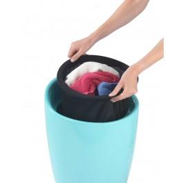 Wäschesammler Wenko Candy eisblau