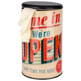 Wäschetonne Vintage Open
