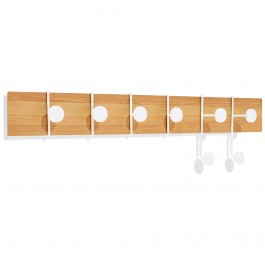 Wandgarderobe Strokes and Dots L weiss