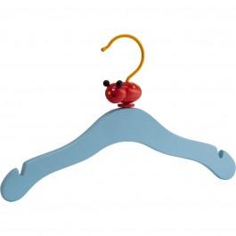 Kinderkleiderbügel Mawa Toy blau - mit wechselden Tiermotiven aus Holz