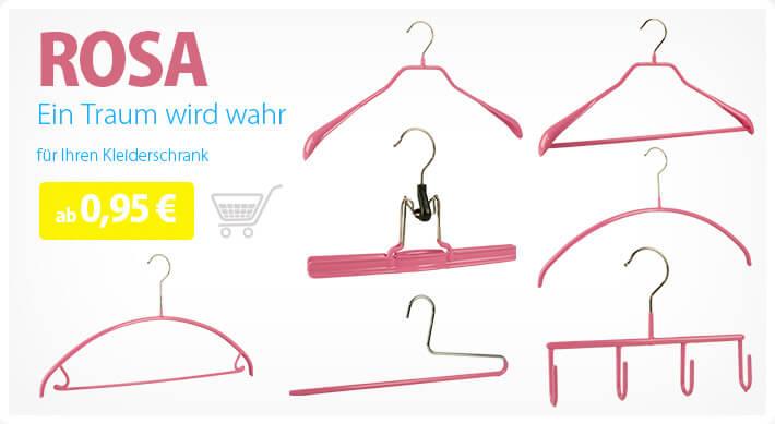 rosa Kleiderbügel bei Kleiderbügelprofi.de