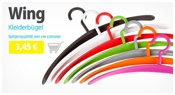 Bügel Wing in vielen Farben sofort günstig bestellen